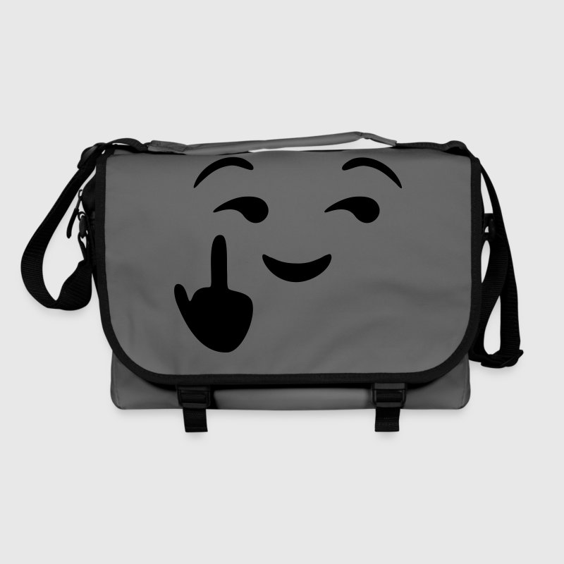 Fuck you emoji - emoticon - smiley Bags & Backpacks - Shoulder Bag