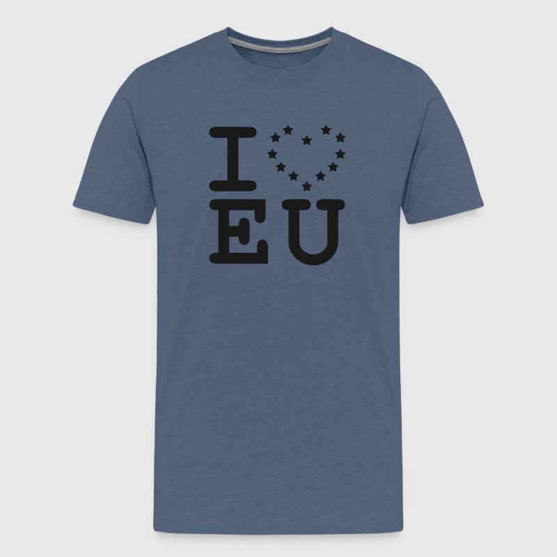 i love EU European Union Brexit Shirts - Teenage Premium T-Shirt