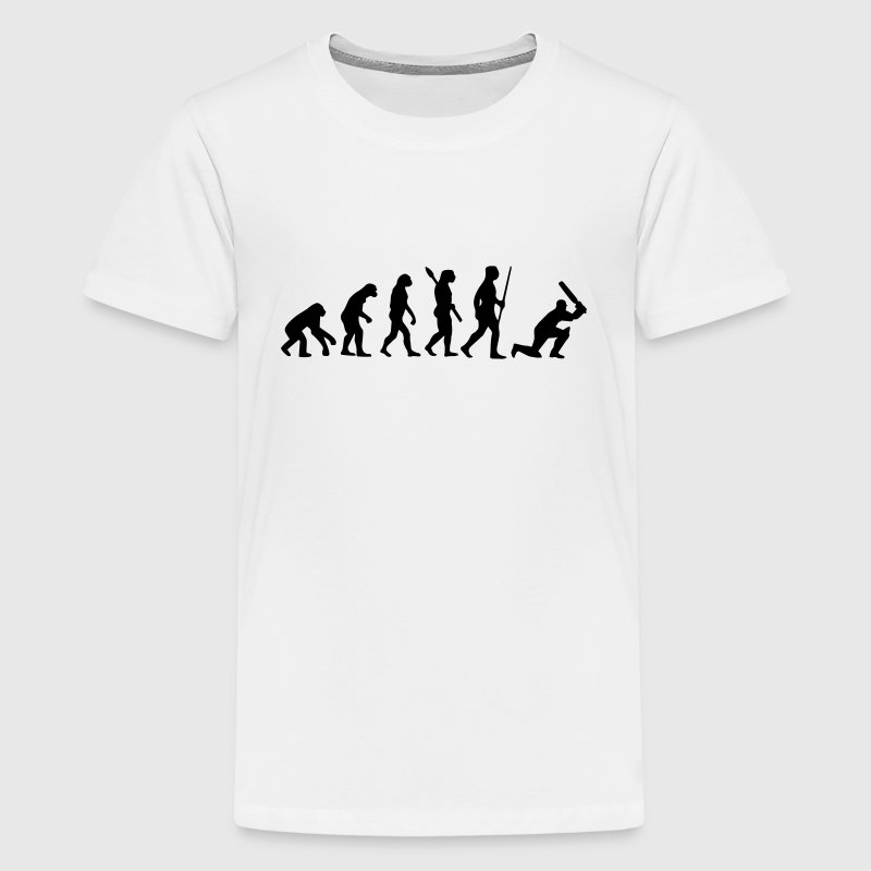 CRICKET EVOLUTION Shirts - Teenage Premium T-Shirt
