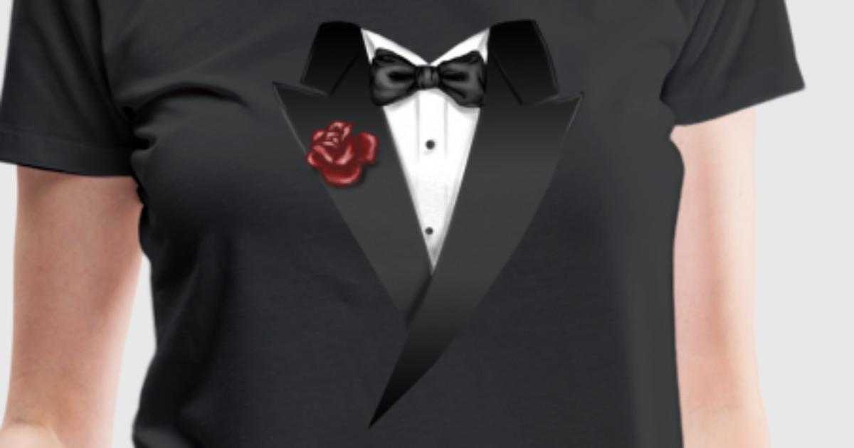 mix tuxedo anzug schwarz mit roter blume und fliege rahmenlos geburtstag geschenk t shirt. Black Bedroom Furniture Sets. Home Design Ideas