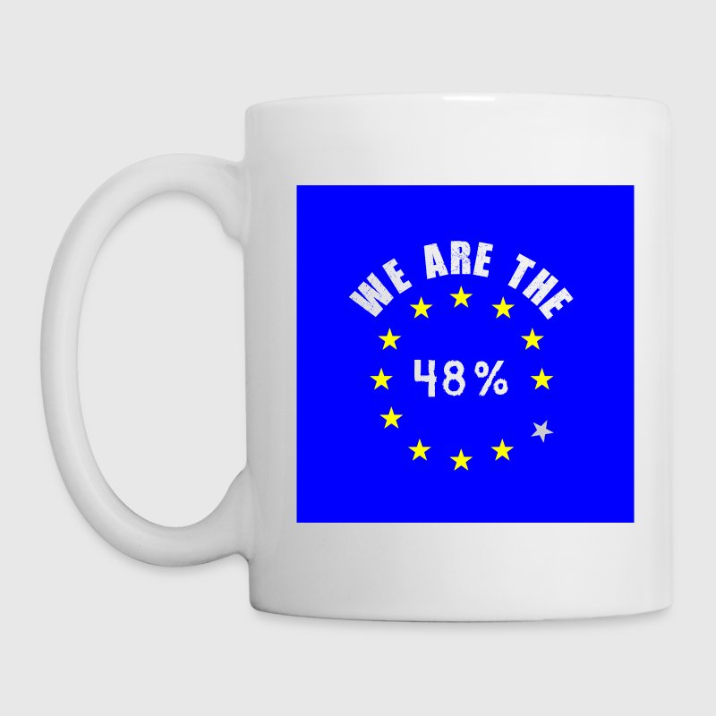 48%-blue-square Mugs & Drinkware - Mug
