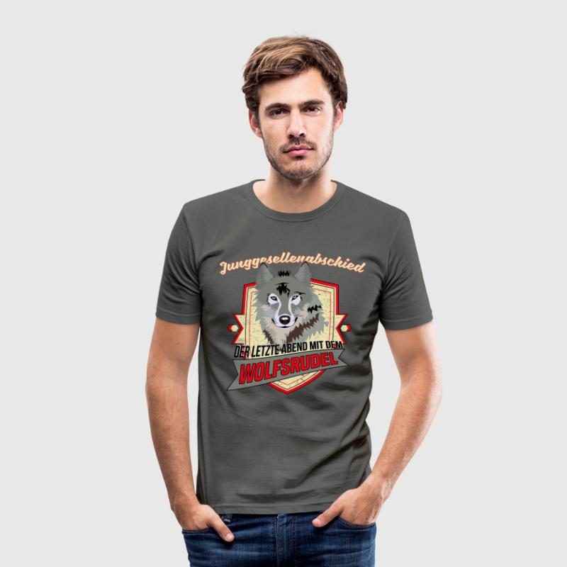 JGA - Wolfsrudel Team T-Shirts - Männer Slim Fit T-Shirt