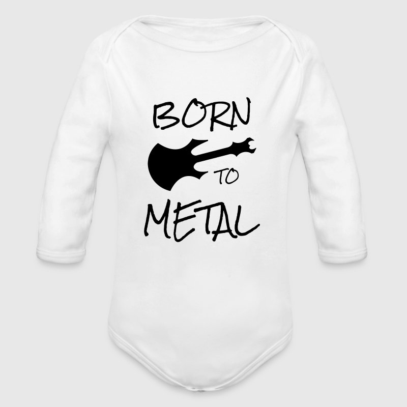 Rock / Metal / Punk / Rock 'n' Roll Body neonato - Body ecologico per neonato a manica lunga