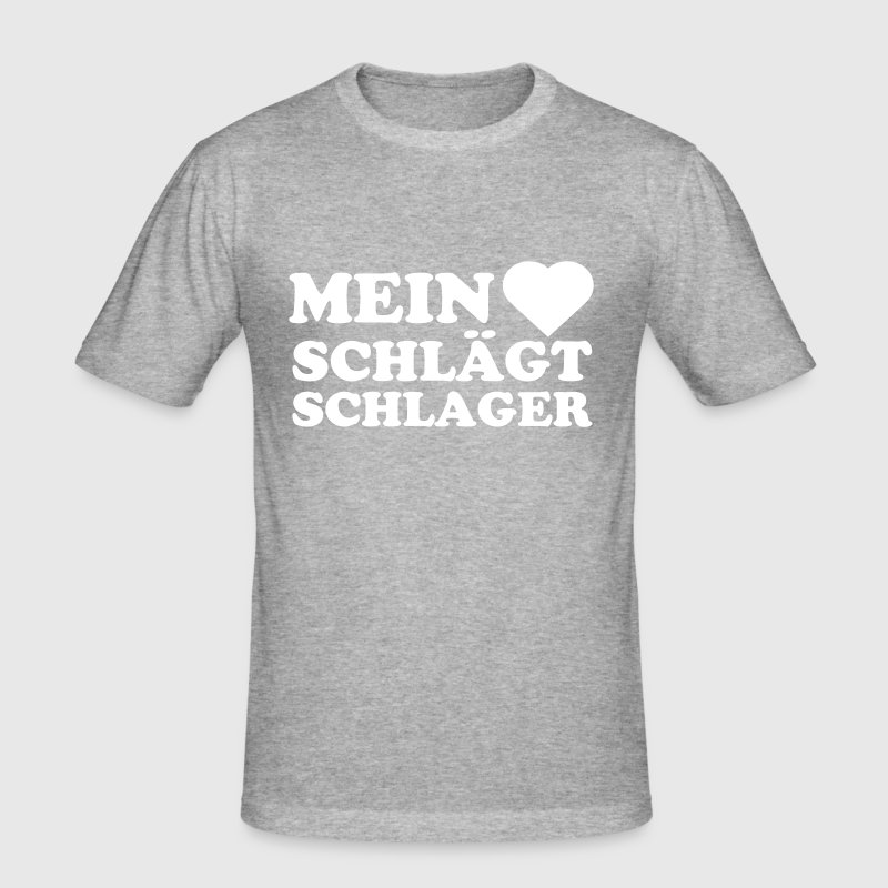 T-Shirt Slim Fit Männer grau - Männer Slim Fit T-Shirt