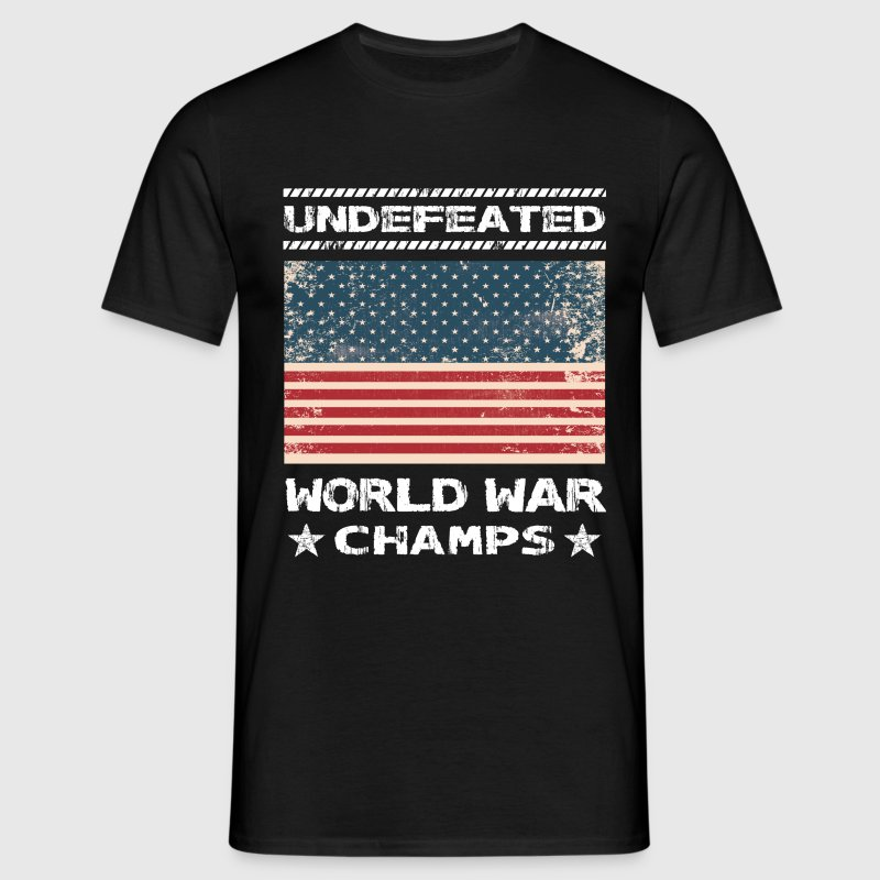 Undefeated World War Champs T-Shirts - Men's T-Shirt