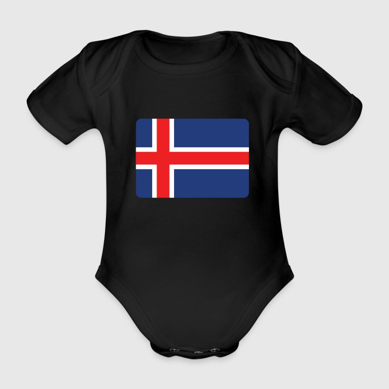 ICELAND IS HORNY! Baby Bodysuits - Organic Short-sleeved Baby Bodysuit