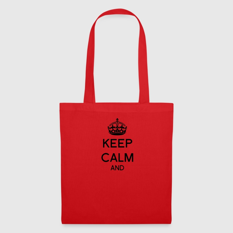 Keep calm and Corona Bolsas y mochilas - Bolsa de tela