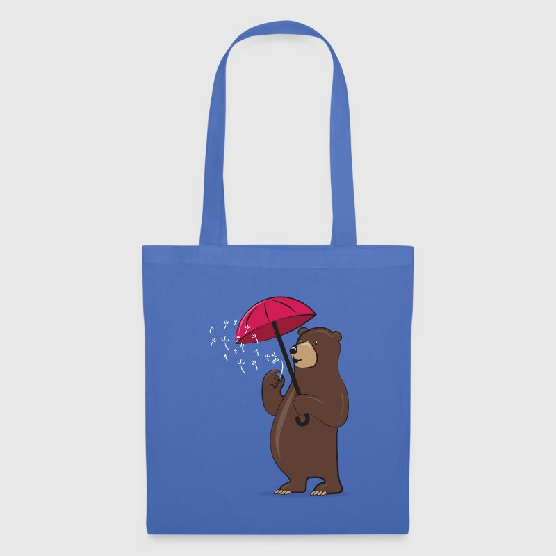 Bear With Dandelion And Umbrella Sacs et sacs à dos - Tote Bag