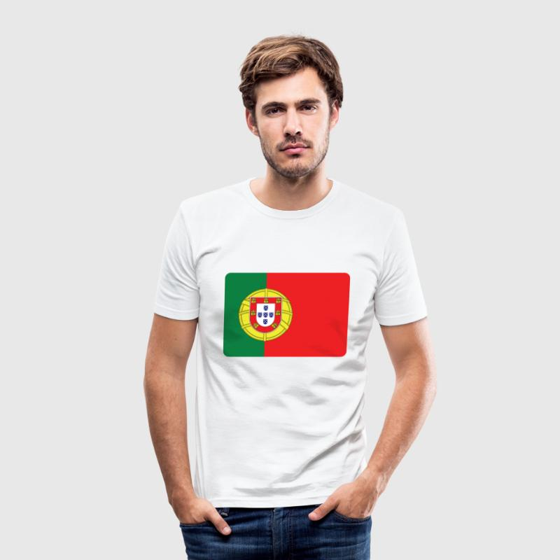 PORTUGAL ER BRUTALT EH T-shirts - Herre Slim Fit T-Shirt