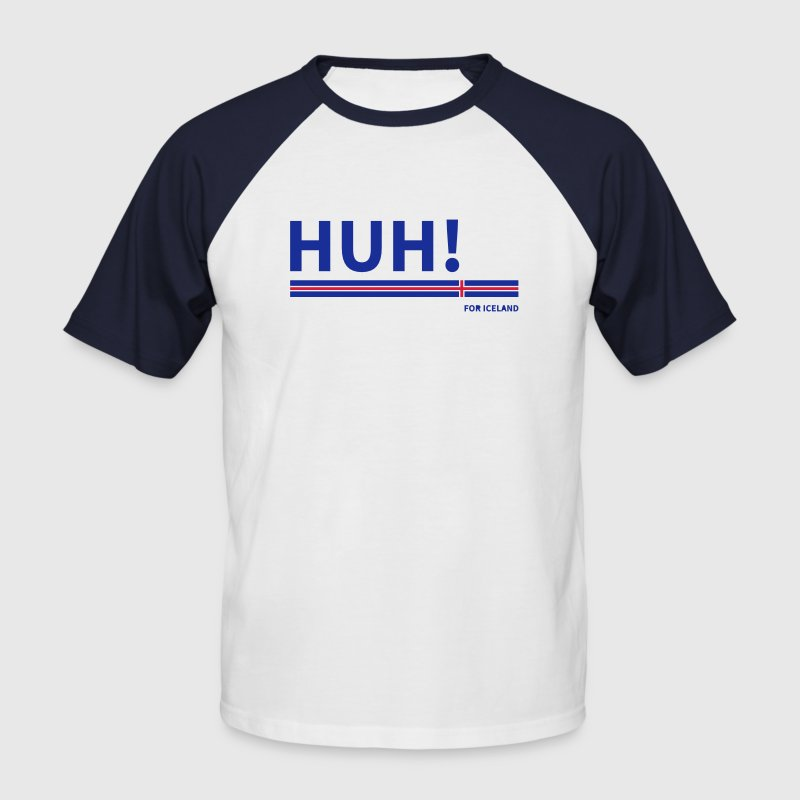 HUH! for Iceland - Männer Baseball-T-Shirt