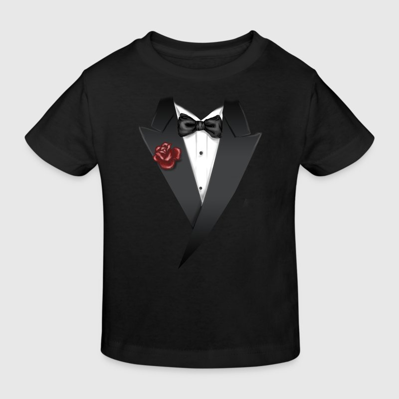 Tuxedo Tie Designs tux black T-Shirts - Kinder Bio-T-Shirt