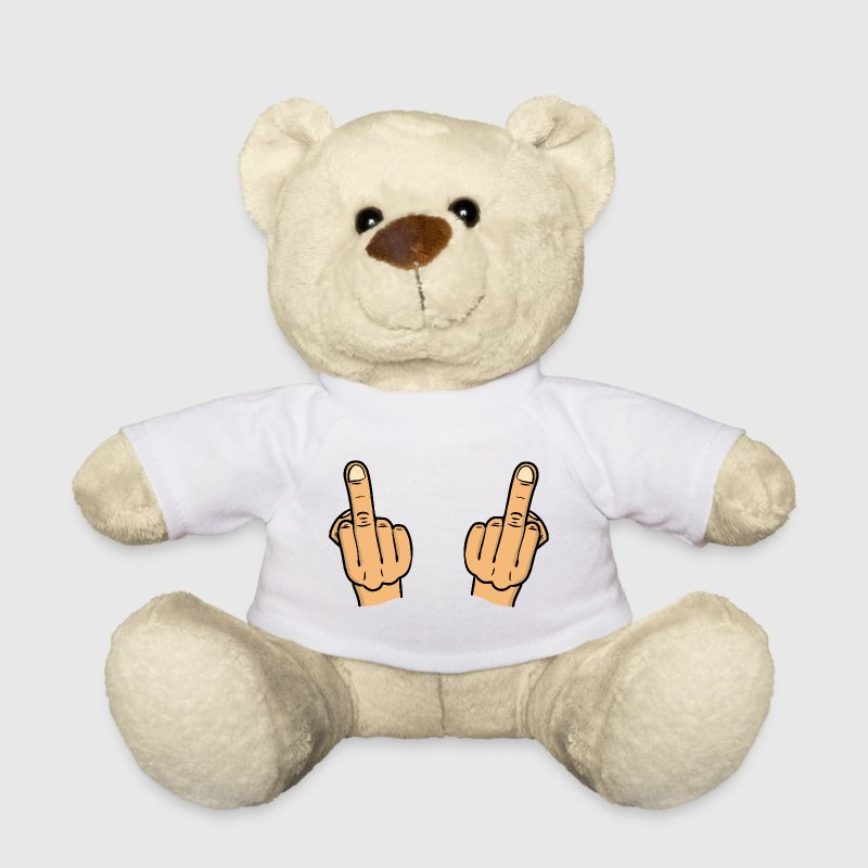 double fuck / two middlefingers / fuck you Kuscheltiere - Teddy