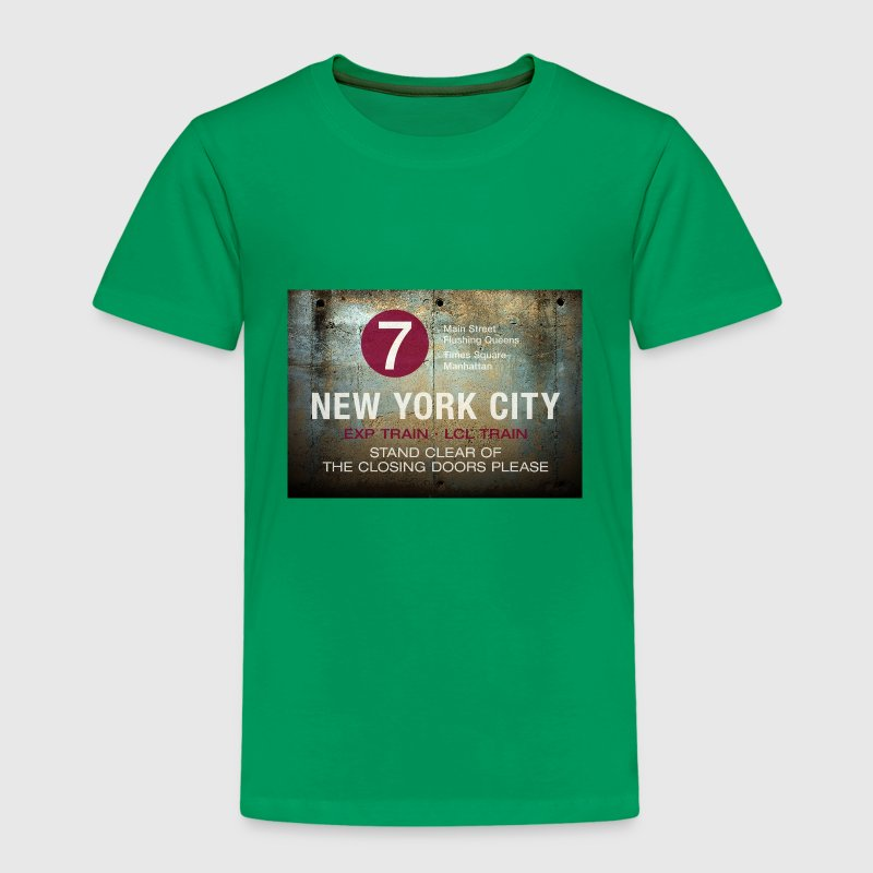 NYC subway stand clear of the closing doors please - Kinder Premium T-Shirt