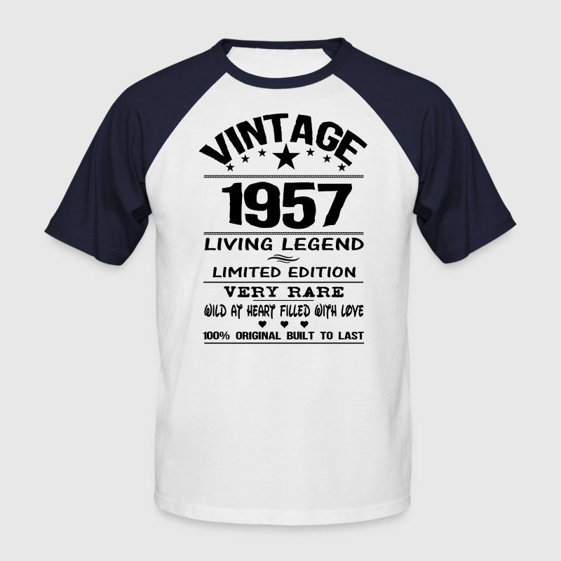 VINTAGE 1957-LIVING LEGEND T-Shirts - Men's Baseball T-Shirt