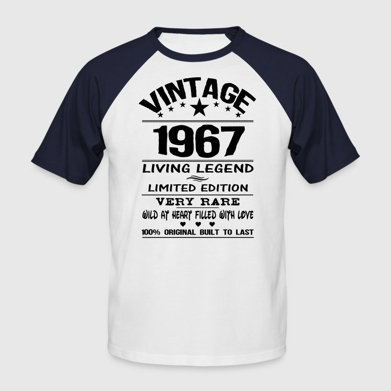 VINTAGE 1967-LIVING LEGEND T-Shirts - Men's Baseball T-Shirt