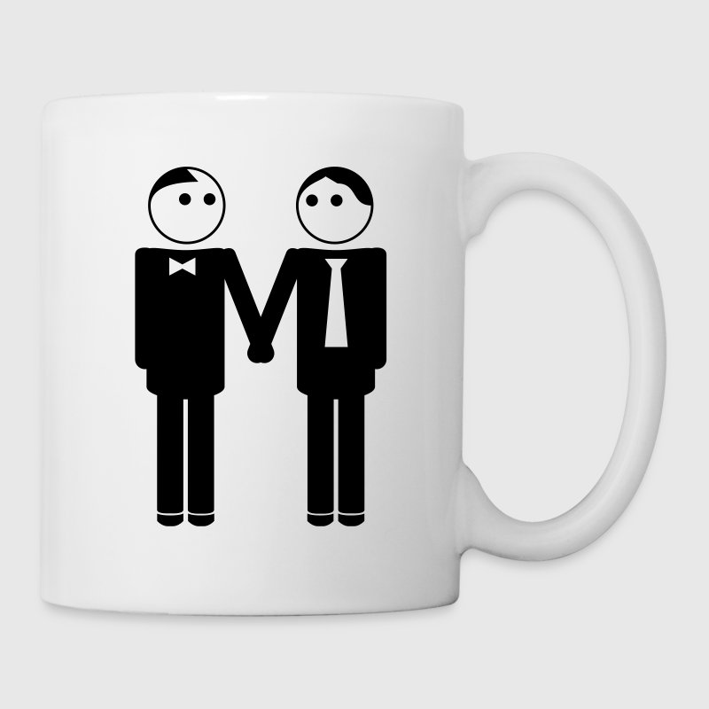 gay couple / gay couple hand in hand 1c Bouteilles et Tasses - Tasse