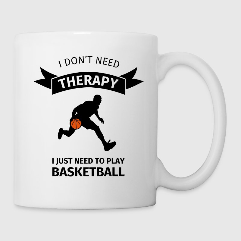 I don't need therapy I just need to play basketbal Bouteilles et Tasses - Mug blanc
