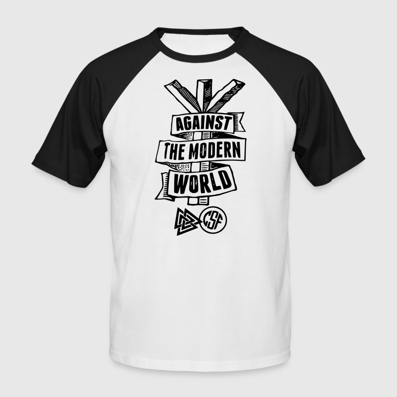 Against The Modern World T-Shirts - Männer Baseball-T-Shirt