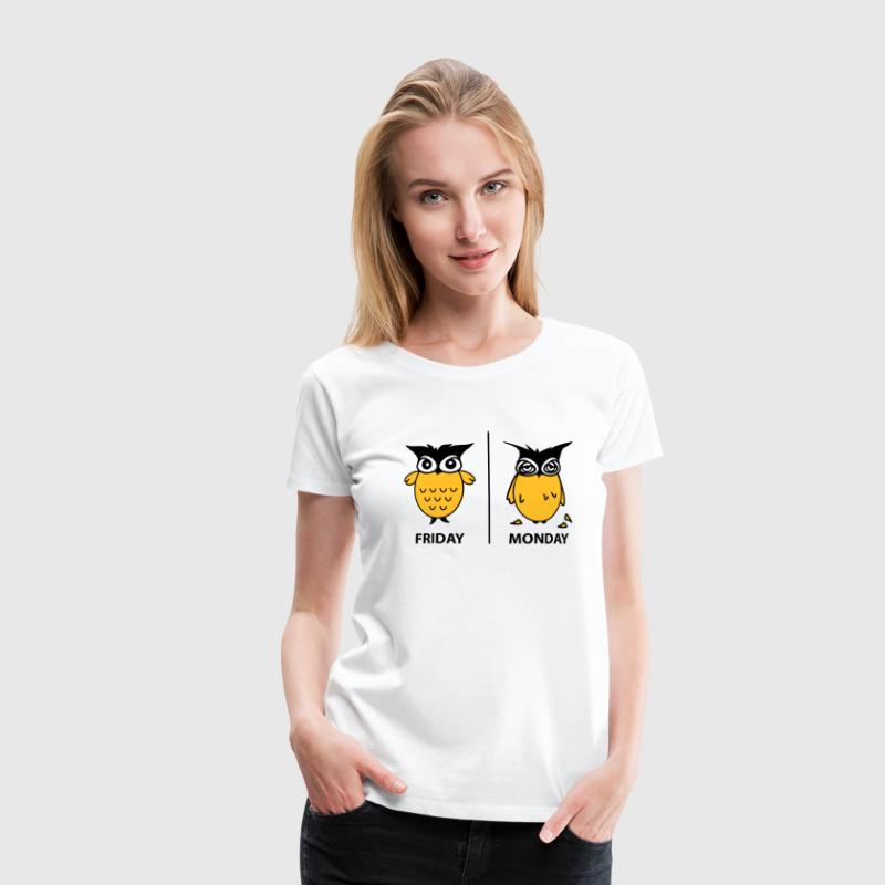 friday and monday T-shirts - Frauen Premium T-Shirt