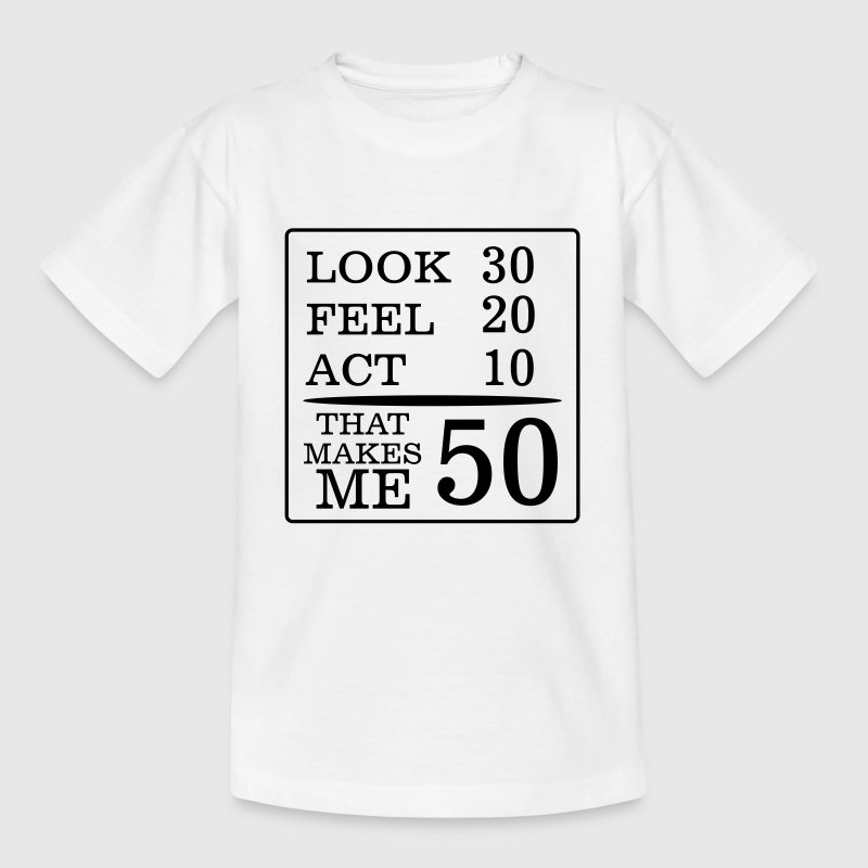 DET HAR AT SE 50 ÅR VAREDE, SÅ GODT! T-shirts - Teenager-T-shirt