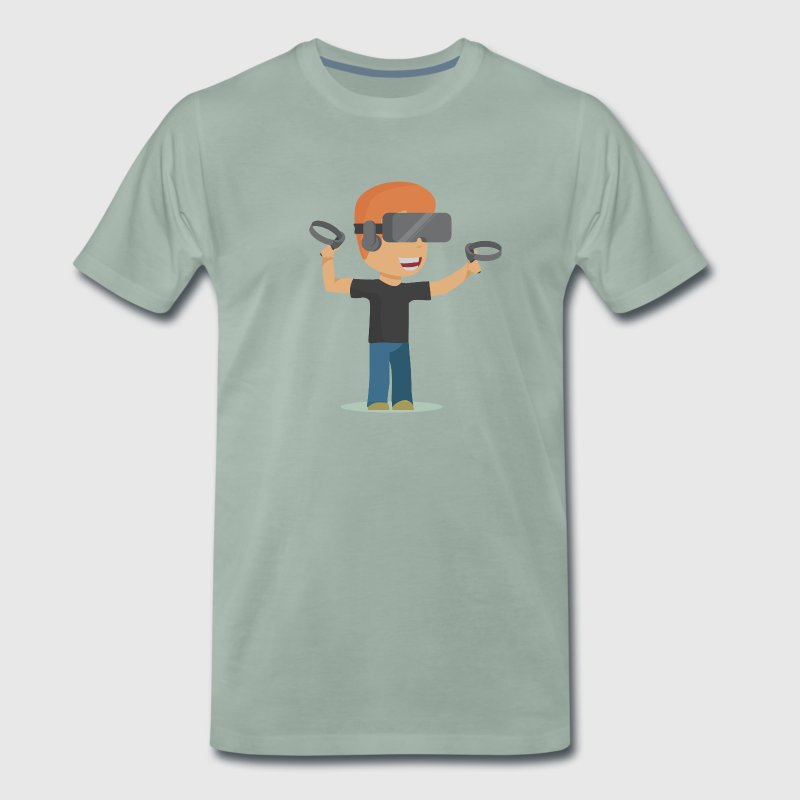 Virtual Reality Dude T-Shirts - Männer Premium T-Shirt
