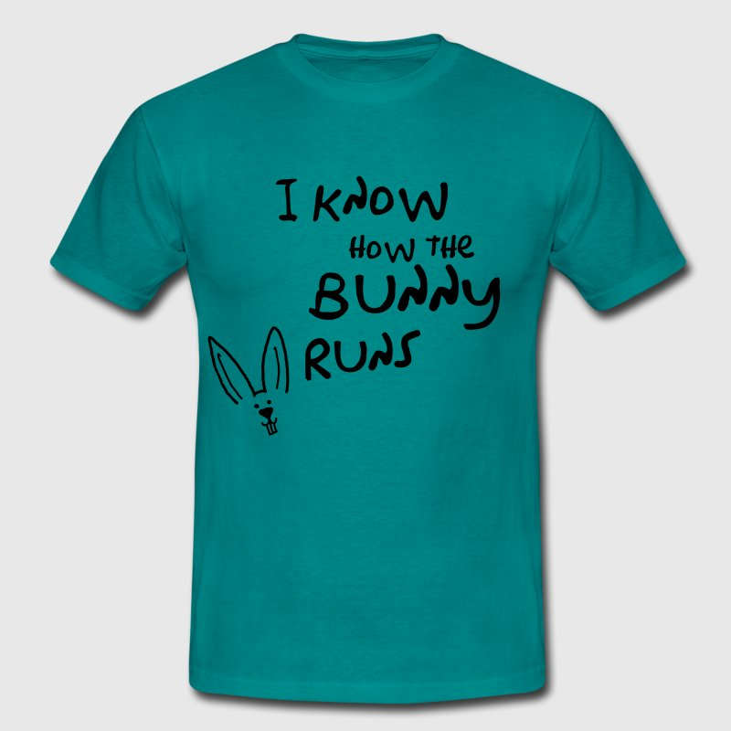 I know how the bunny runs - Männer T-Shirt