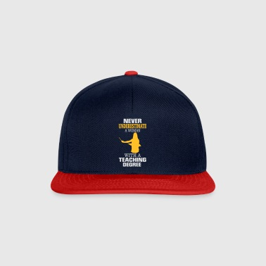UNDERESTIMATE NEVER A TEACHER! Other - Snapback Cap