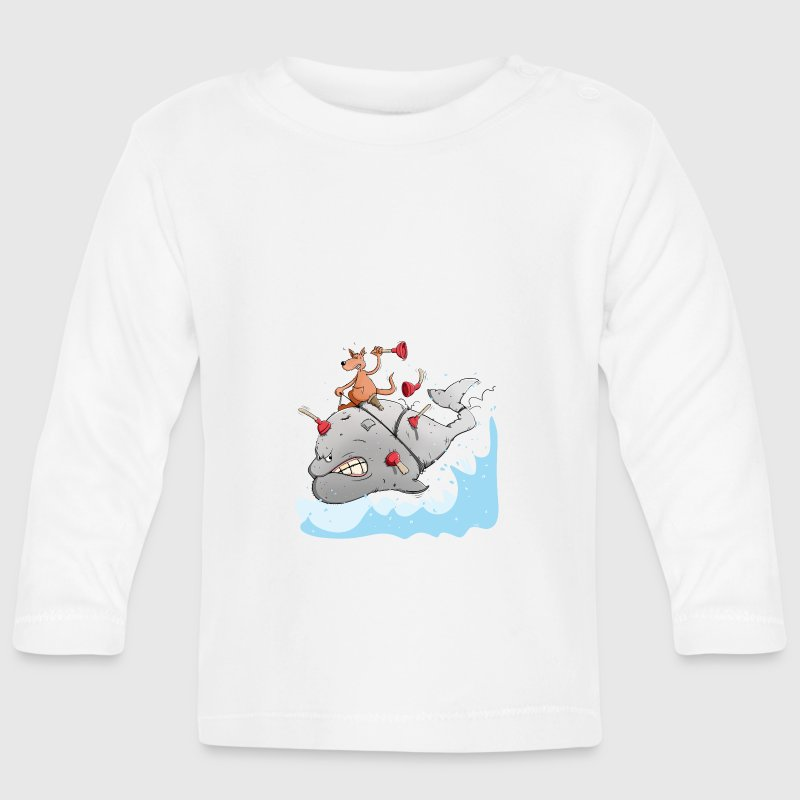Captain Ahab rides the white whale Baby Long Sleeve Shirts - Baby Long Sleeve T-Shirt
