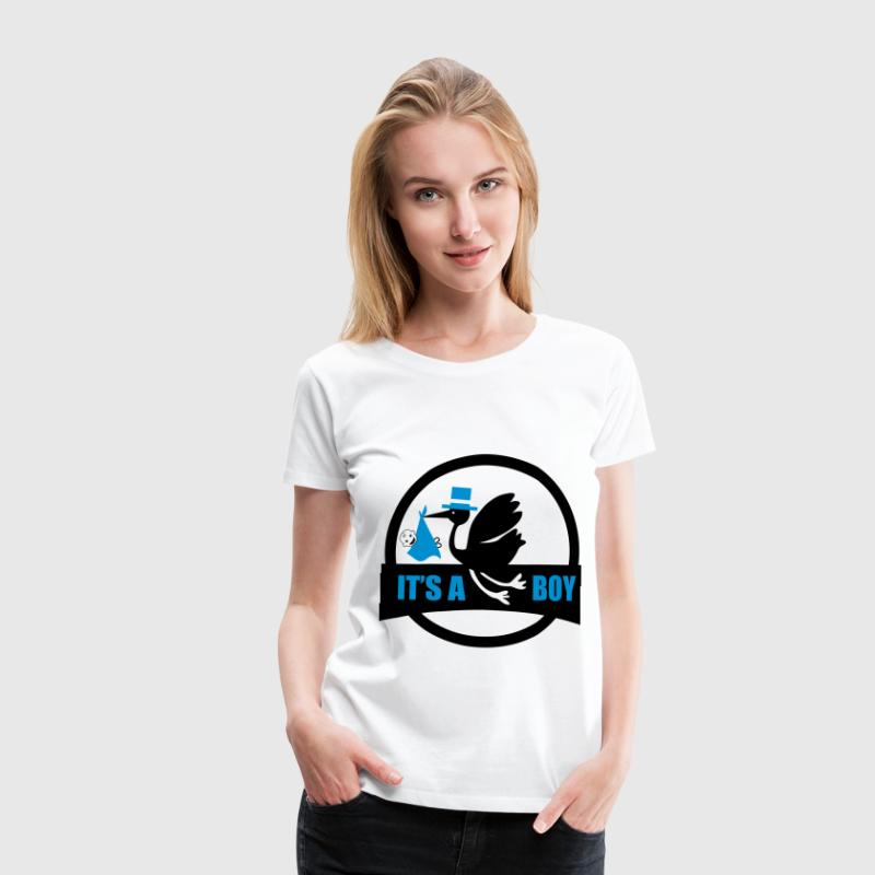 it's a boy 2 T-Shirts - Frauen Premium T-Shirt