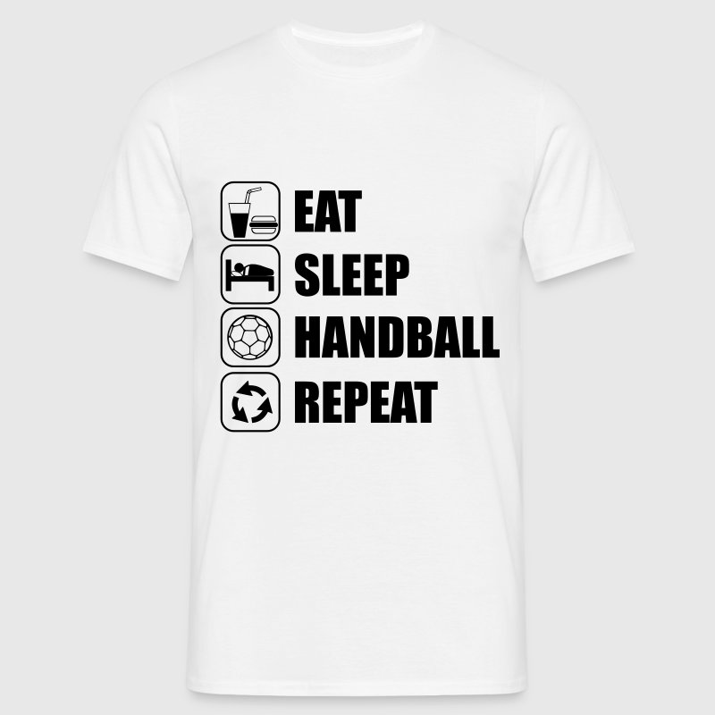 EAT SLEEP HANDBALL Tee shirts - T-shirt Homme