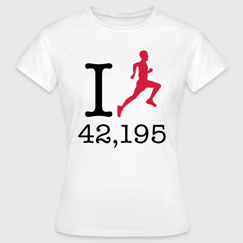 I Run 42,195 (Marathon Distance) T-Shirts - Frauen T-Shirt