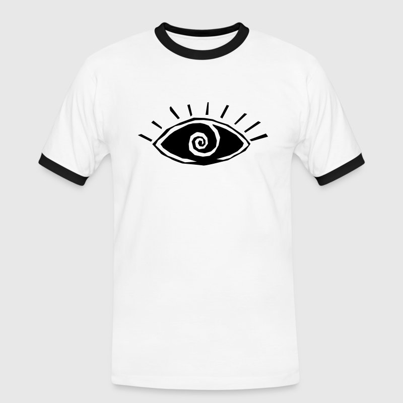 Eye, vision, all seeing eye, spiral, god, third T-Shirts - Men's Ringer Shirt