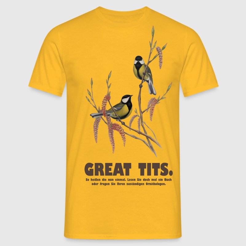 Greats tits t-shirt - Männer T-Shirt