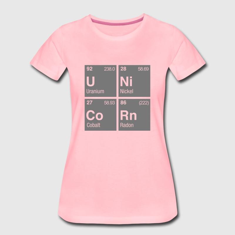Unicorn periodic table of elements t shirt spreadshirt unicorn periodic table of elements t shirts womens premium t shirt urtaz Images