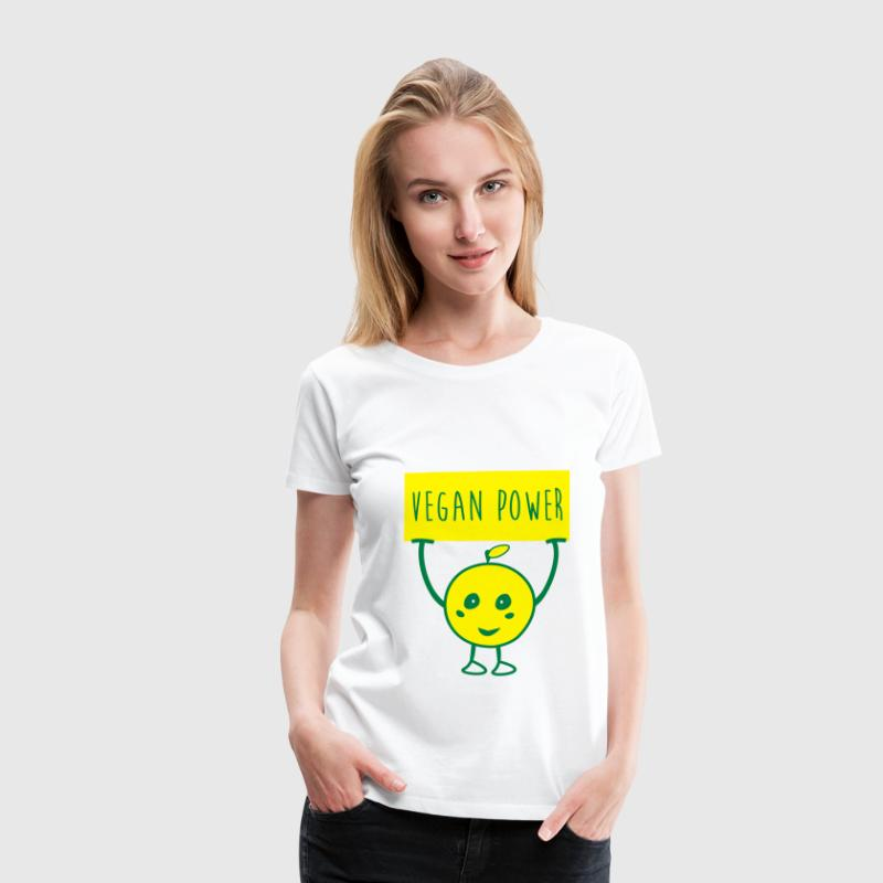 VEGAN POWER - Premium-T-shirt dam