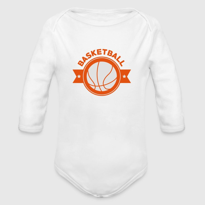 Basketball - Basket Ball - Game - Sport - Player Bodys Bébés - Body bébé bio manches longues