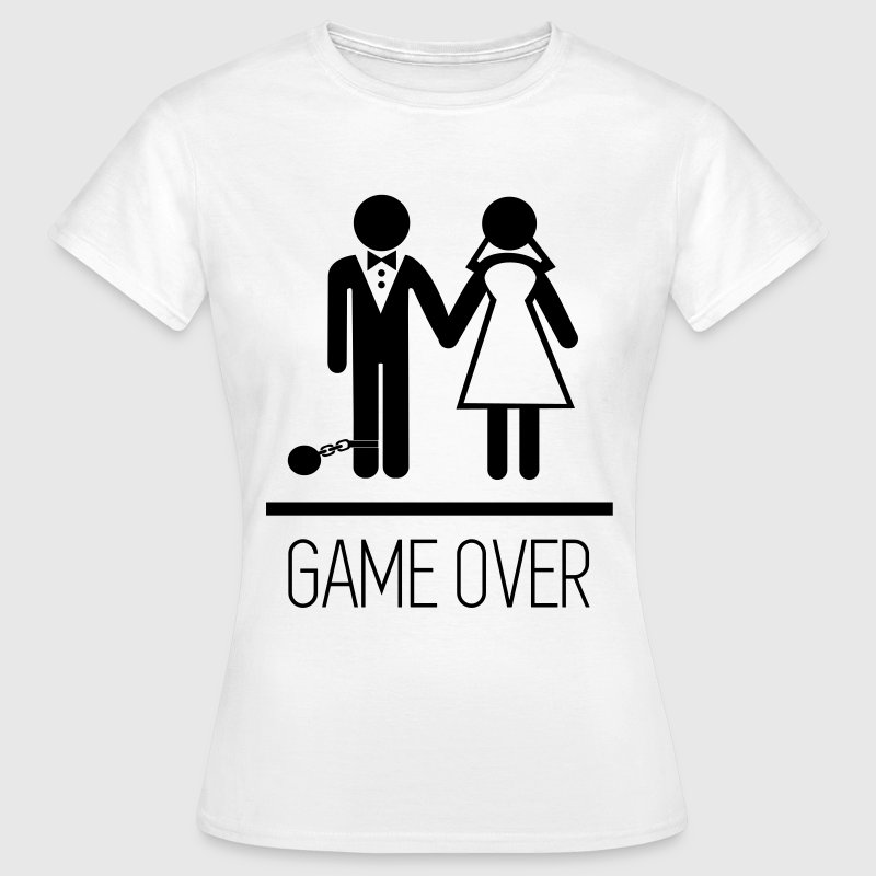 Game over stag do hen party funny t shirt spreadshirt for Game t shirts uk