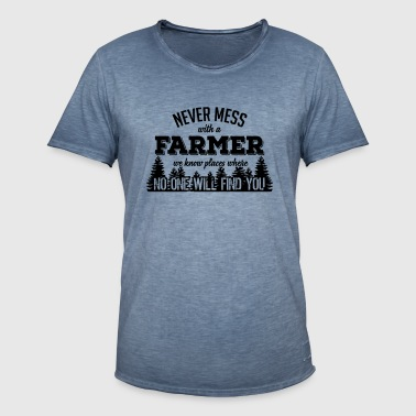 never mess with a farmer T-Shirts - Men's Vintage T-Shirt