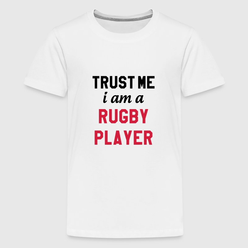 Rugby - Rugbyman - Sport - Fighter - Fight Shirts - Teenager Premium T-shirt