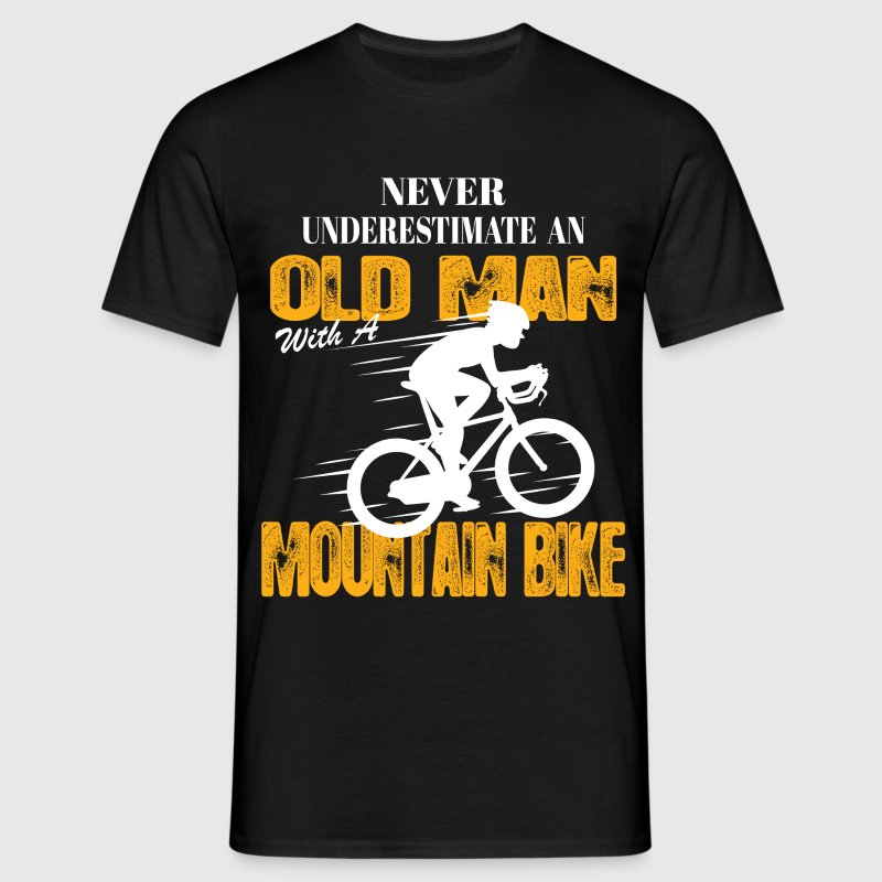 Never Underestimate An Old Man With A Mountain Bi T-Shirts - Men's T-Shirt