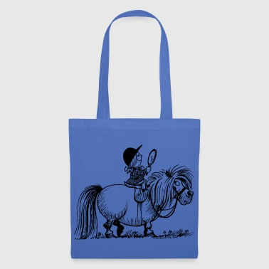 Thelwell - Penelope with a mirror Buttons - Tote Bag