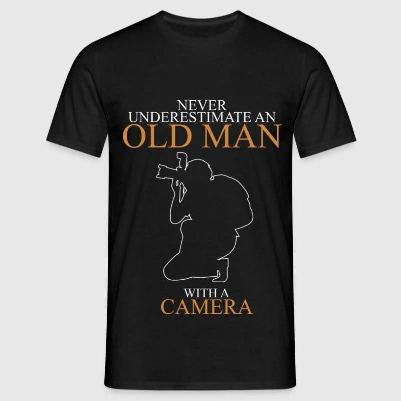 Never Underestimate An Old Man Camera.png T-Shirts - Men's T-Shirt
