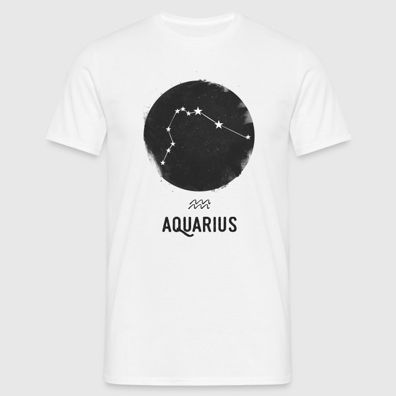 Minimal Aquarius Zodiac Sign T-Shirts - Men's T-Shirt