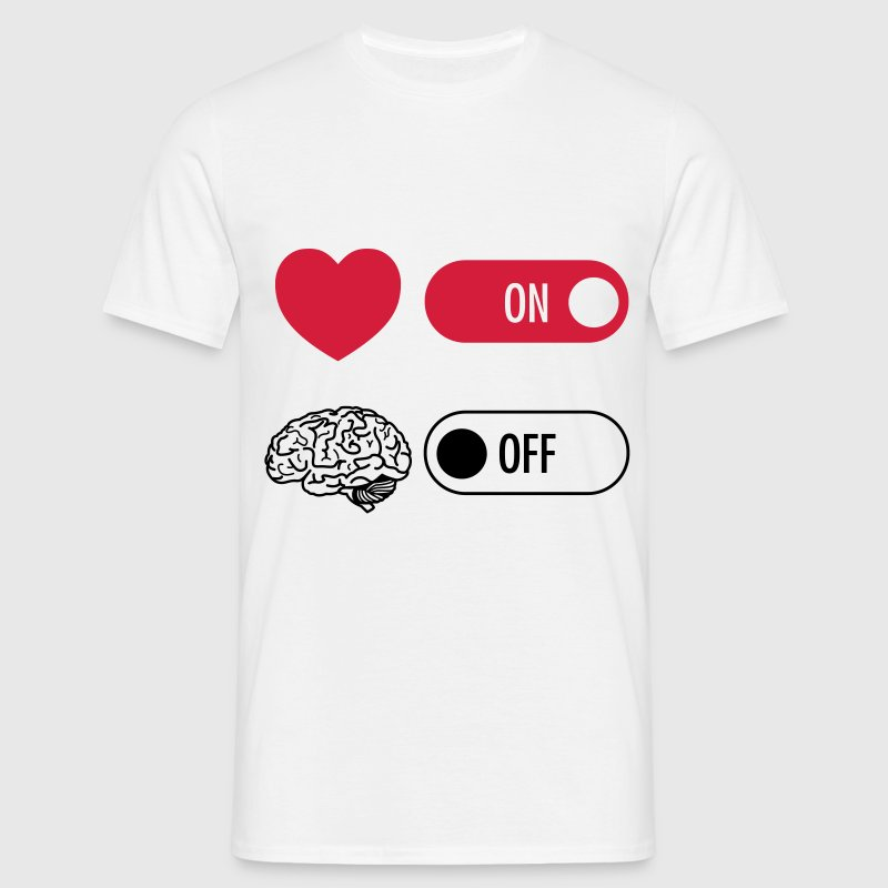 Heart on Brain off T-Shirts - Männer T-Shirt