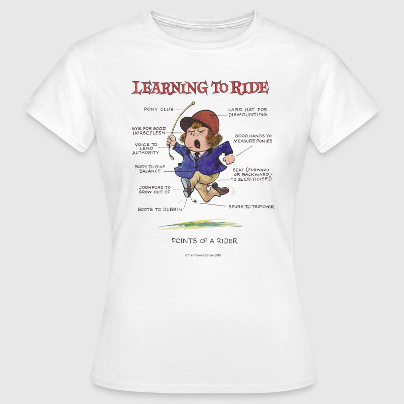 Thelwell Learning to ride - Women's T-Shirt