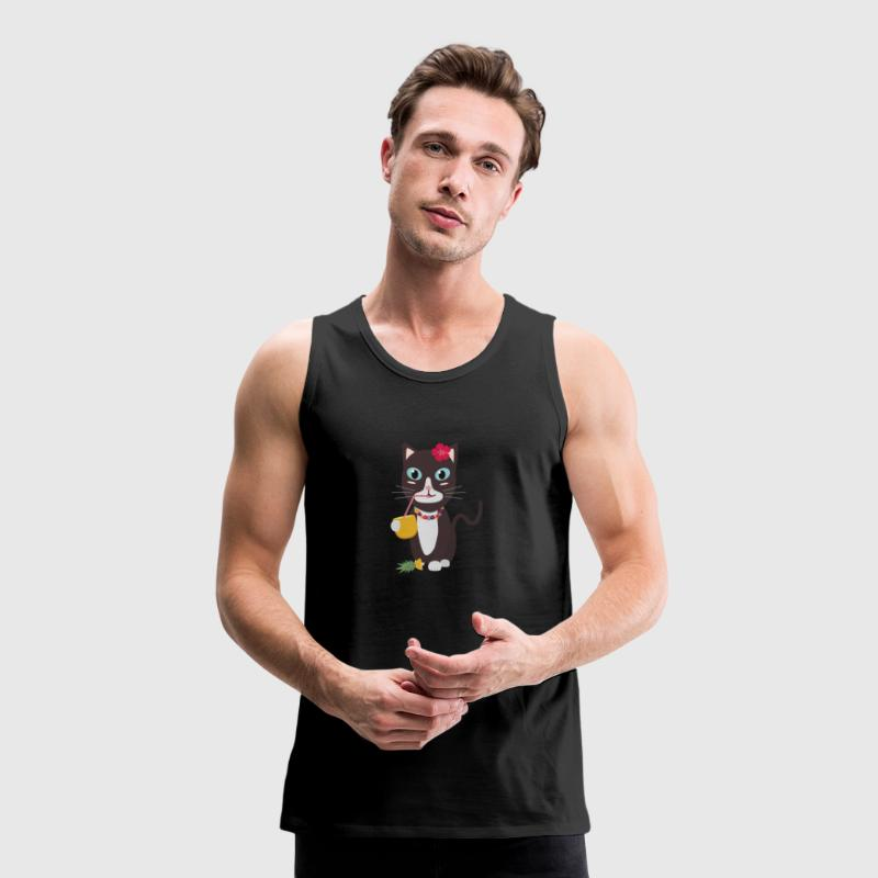 Hawaii cat with pineapple Sports wear - Men's Premium Tank Top
