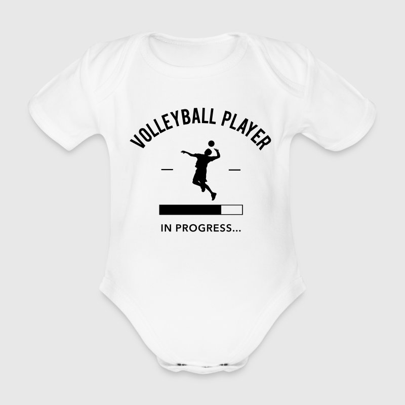 Volleyball player in progress - Baby Bio-Kurzarm-Body