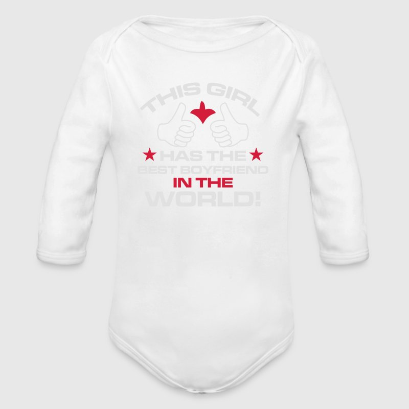 THE MACKENZIE HERE - HAS THE BEST BOYFRIEND EVER! Baby Bodysuits - Longsleeve Baby Bodysuit