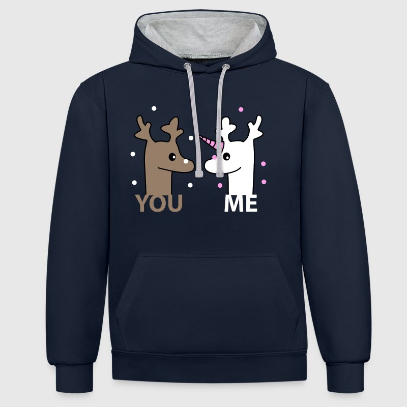 you me Sweat-shirts - Sweat-shirt contraste