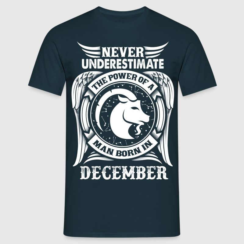 ...Power Of A Man Born In December, Capricorn Sign T-Shirts - Men's T-Shirt